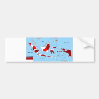politische Kartenflagge Indonesien-Landes Auto Sticker
