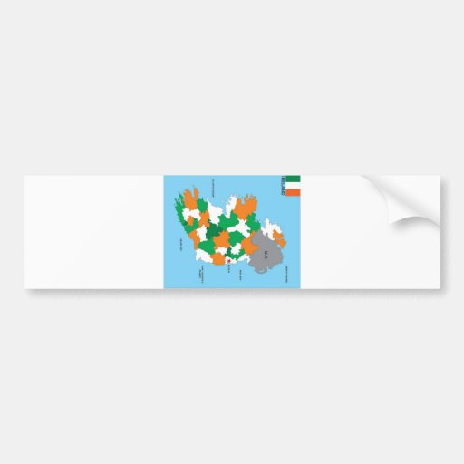 politische Kartenflagge Irland-Landes Auto Aufkleber