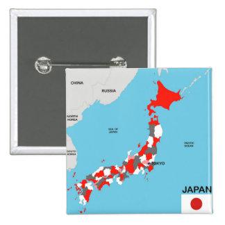 politische Kartenflagge Japan-Landes Anstecknadel