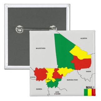 politische Kartenflagge Mali-Landes Anstecknadel