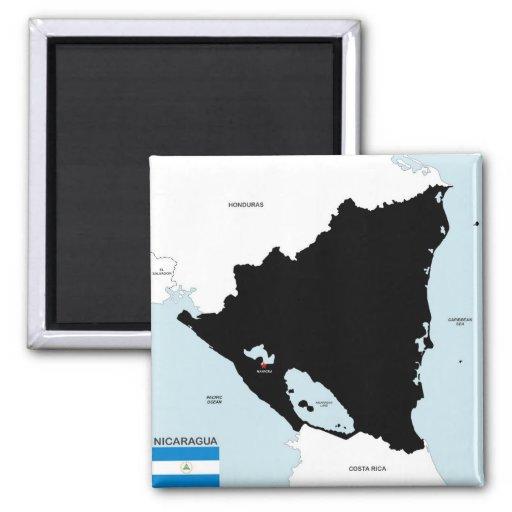 politische Kartenflagge Nicaragua-Landes Kühlschrankmagnet
