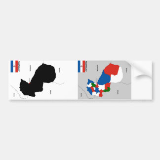 politische Kartenflagge Paraguay-Landes Autoaufkleber