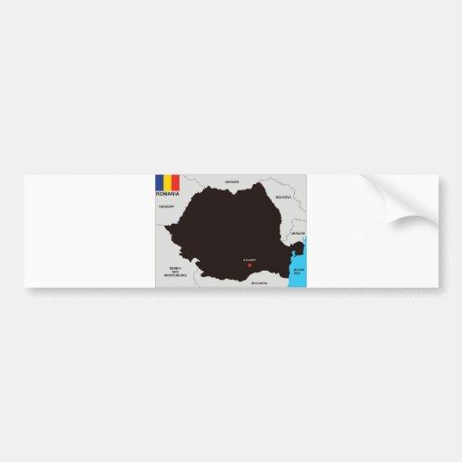 politische Kartenflagge Rumänien-Landes Auto Sticker