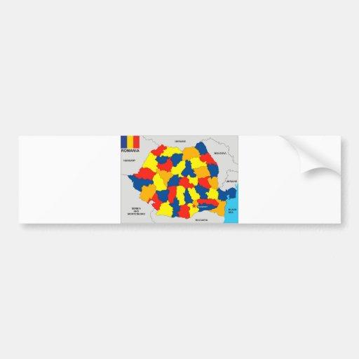 politische Kartenflagge Rumänien-Landes Auto Aufkleber
