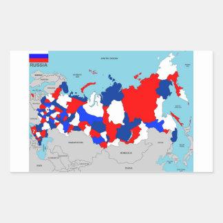 politische Kartenflagge Russland-Landes Rechrteckaufkleber