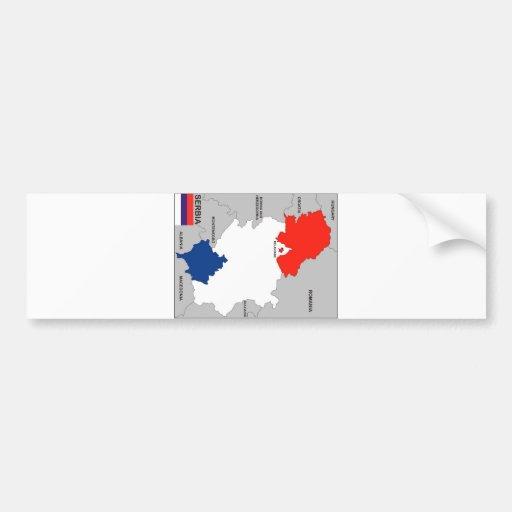 politische Kartenflagge Serbien-Landes Autosticker