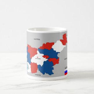politische Kartenflagge Slowenien-Landes Kaffeetasse