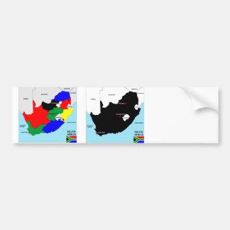 politische Kartenflagge Südafrika-Landes Autoaufkleber