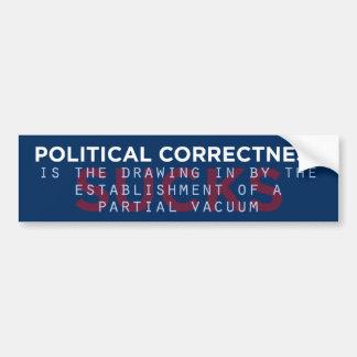 Politische Korrektheits-ist zum Kotzen Autoaufkleber
