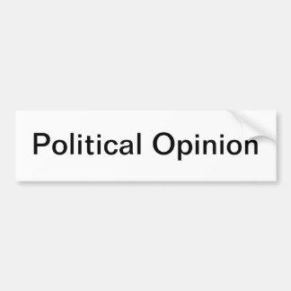 Politische Meinung Autoaufkleber