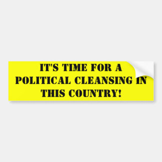 Politische Reinigung Autoaufkleber
