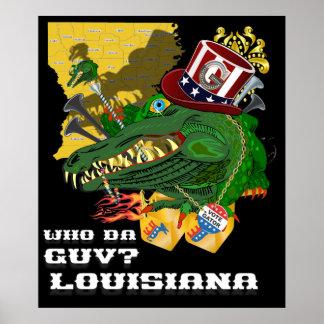 Politische Satire Louisianas Poster