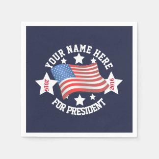 Politische Wahlkampf-Schablone mit Flagge Papierservietten