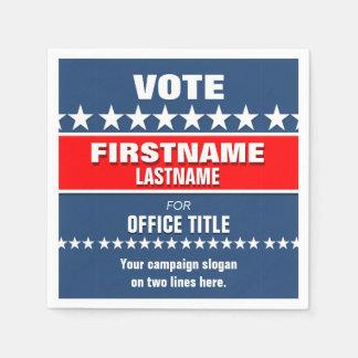 Politische Wahlkampf-Schablone Papierservietten