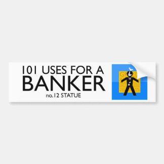 politischer Autoaufkleber - Antibanker