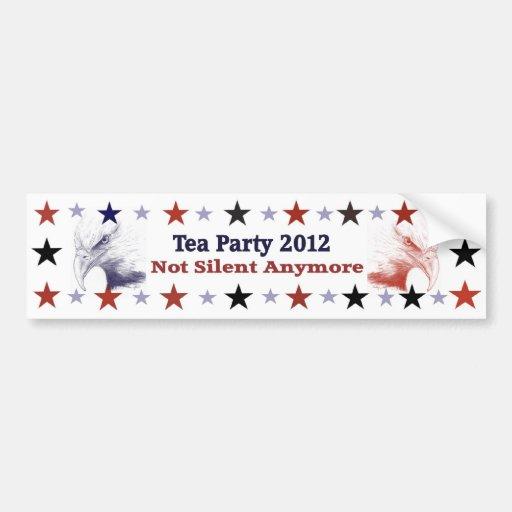 Politischer Gang des Tee-Party-2012 Auto Sticker