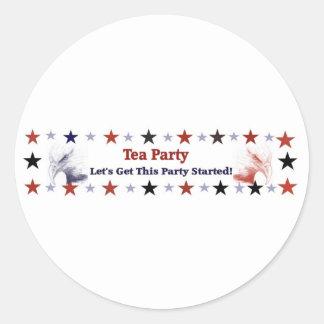 Politischer Gang des Tee-Party-2012 Runder Aufkleber