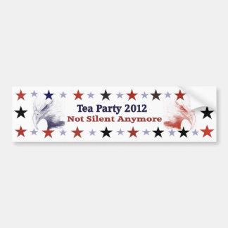 Politischer Gang für Tee-Party 2012 Autoaufkleber