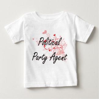 Politischer Party-Agent-künstlerischer Job-Entwurf T-shirt
