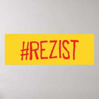 politischer Slogan rezist Rumäniens widerstehen Poster