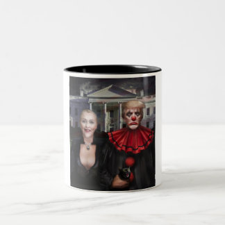 Politisches gotisches zweifarbige tasse