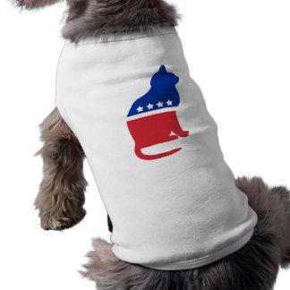 Politisches Katzen-Shirt für Hunde Ärmelfreies Hunde-Shirt