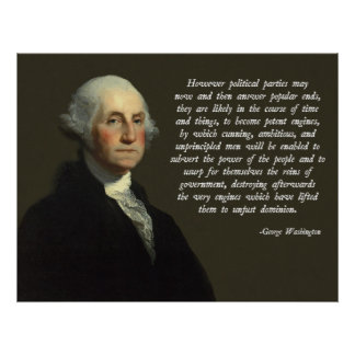 Politisches Partys-Zitat George Washington Poster