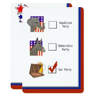 Politisches Wahl-NachtParty Karte