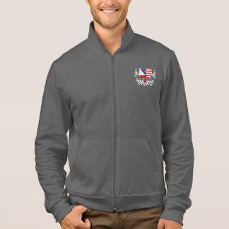 Politur-Amerikanische Schild-Flagge Jacke