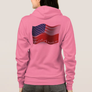 Politur-Amerikanische wellenartig bewegende Flagge Hoodie