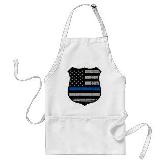 Polizei-Abzeichen-blaue Linie Schürze
