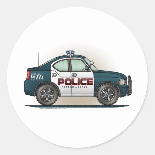 polizei auff nger auto polizist auto aufkleber runder. Black Bedroom Furniture Sets. Home Design Ideas