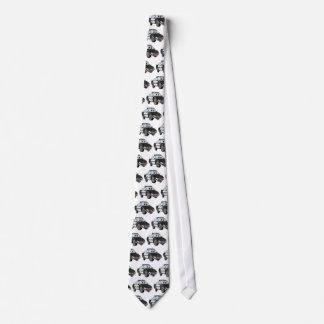 Polizei-Auto-Cartoon 4 BW Bedruckte Krawatten