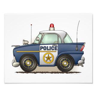 Polizei-Auto-Polizei Crusier Polizist-Auto Kunst Photo