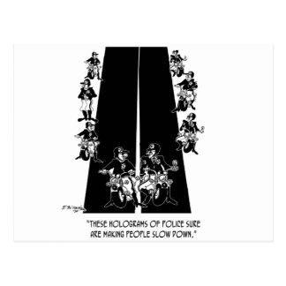 Polizei-Cartoon 6269 Postkarte