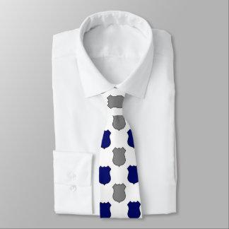 Polizei des blauen Graus schirmt Muster-Krawatte Personalisierte Krawatte