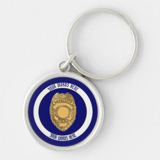 Polizei-Detektiv-Abzeichen-Gewohnheit Schlüsselanhänger