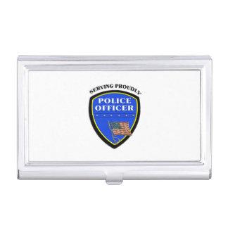 Polizei, die stolz dient visitenkarten etui