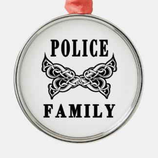 Polizei-Familien-Tätowierungen Silbernes Ornament