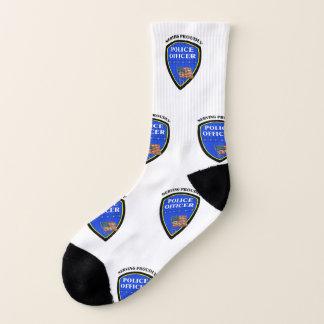 Polizei-Gesetzesvollstreckung, die stolz dient Socken