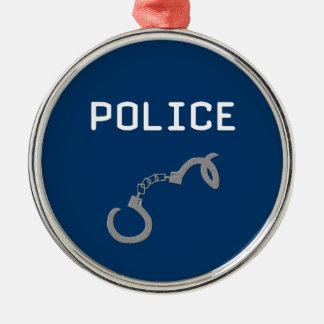 Polizei-Handschellen Silbernes Ornament