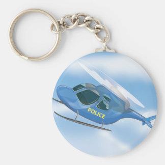 Polizei-Hubschrauber Schlüsselanhänger