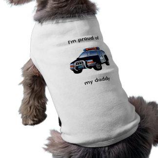 """Polizei """"ich bin auf meinen (Vati)"""" Katzen-/HundeT T-Shirt"""