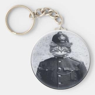 Polizei-Katze Schlüsselanhänger