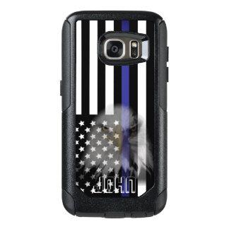 Polizei kennzeichnet   verblaßtes Eagle OtterBox Samsung Galaxy S7 Hülle