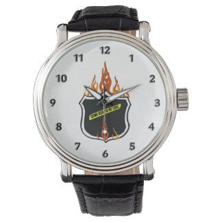 Polizei-loderndes Abzeichen Armbanduhr
