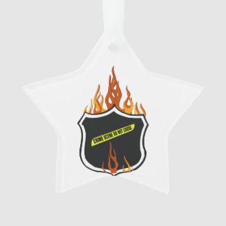 Polizei-loderndes Abzeichen Ornament