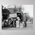 Polizei nimmt Schwarzhändler Car, 1922 gefangen
