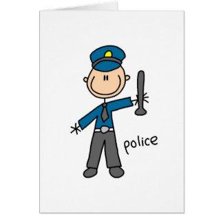 Polizei-Offizier-Strichmännchen-Karte Grußkarte