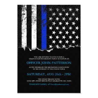 Polizei redet Einladung der Flagge-Party|Event an Karte